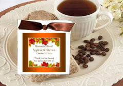 Autumn Fall Leaf Wedding Coffee Bag Party Favors
