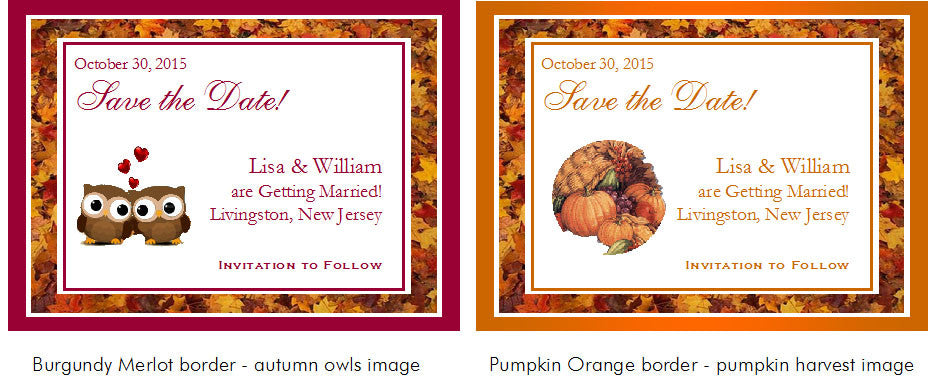 country fall chic autumn vintage save the date cards pavia party