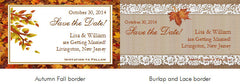 Autumn Fall Country Chic Vintage Save the Date Magnets