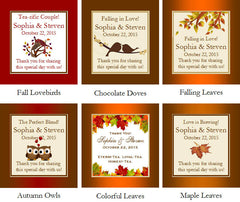 Autumn Fall Leaf Wedding Tea Bag Party Favors