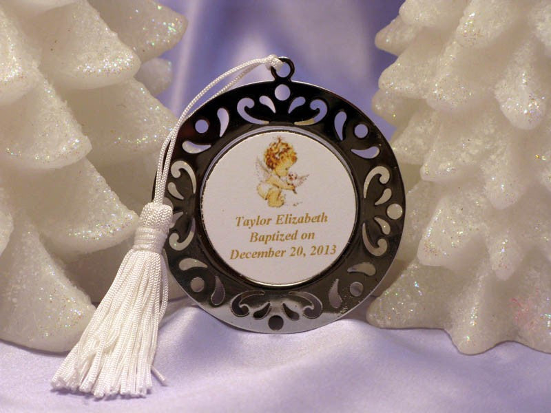 Baptism Christening Gifts Photo Party Metal Bookmarks Ornaments