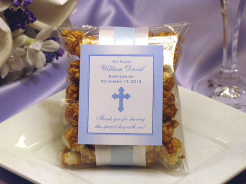 Baptism Christening Gifts Photo Party Caramel Corn Favors