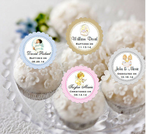 Baptism Christening Gifts Photo Party Cupcake Toppers Supplies