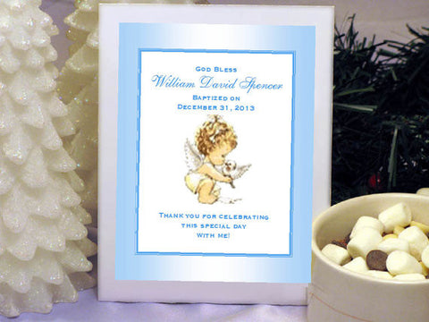 Baptism Christening Gifts Photo Party Hot Chocolate Favors