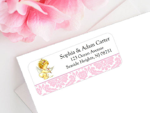 Baptism Christening Photo Mailing Address Labels Stickers