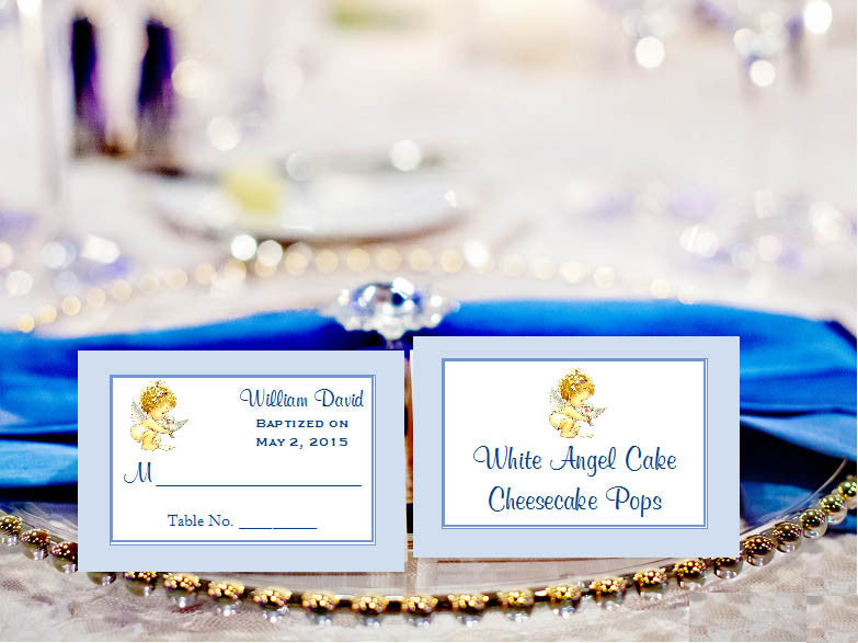 Baptism Christening Photo Buffet Escort Place Cards