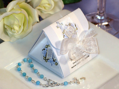 Baptism Christening Gifts Photo Rosary Origami Favor Boxes