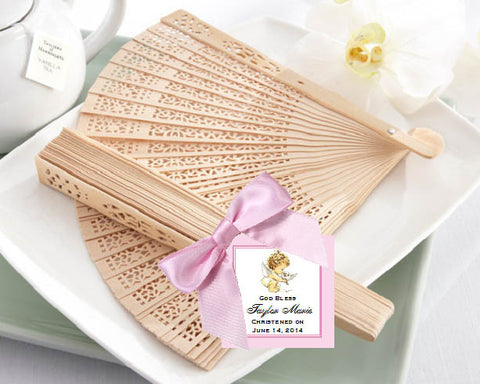 Baptism Christening Gifts Photo Party Sandalwood Favor Fans