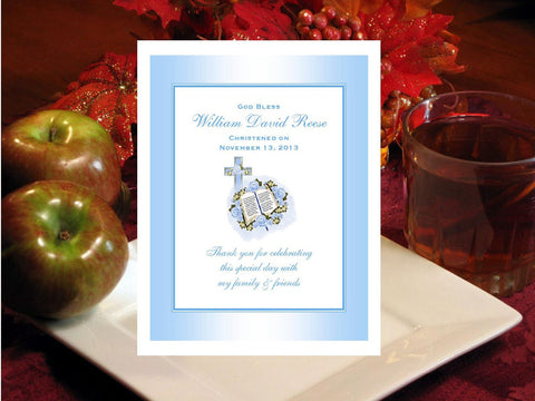 Baptism Christening Photo Party Hot Apple Cider Mix Favors
