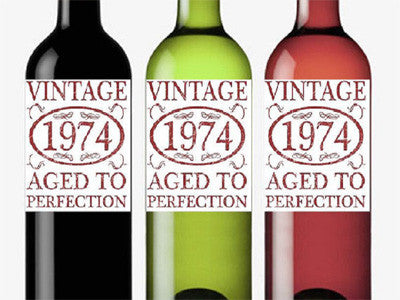 Birthday Aged to Perfection Wine Bottle Labels Stickers