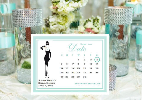 Breakfast at Diva's Calender Save The Date Cards Notes