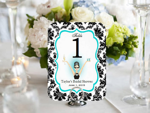 Breakfast at Diva's Table Numbers Cards