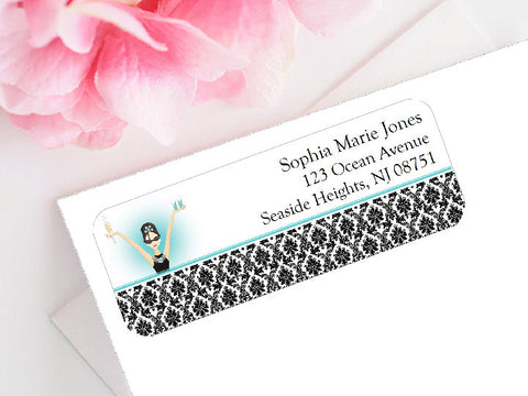 Breakfast at Diva's Mailing Address Labels Stickers