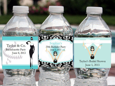 Breakfast at Diva's Water Bottle Labels Stickers