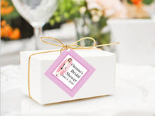 Bridal Shower Square Favor Gift Tags