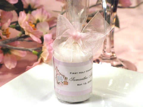 Communion Confirmation Candle Votive Favors