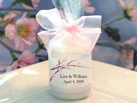 Cherry Blossom Wedding Bridal Candle Votive Favors