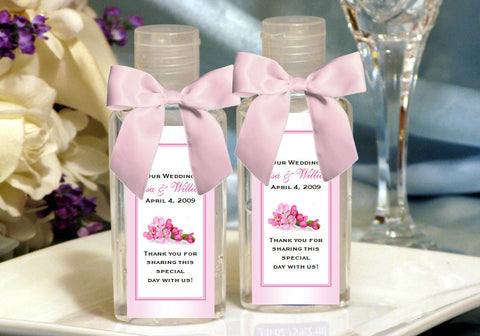 Cherry Blossom Wedding Bridal Hand Sanitizers Favors
