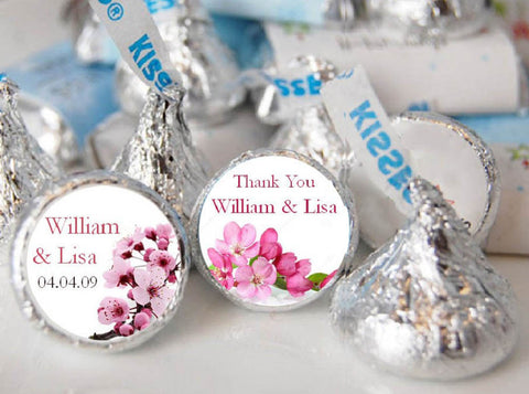 Cherry Blossom Hersheys Chocolate Kisses Labels Stickers
