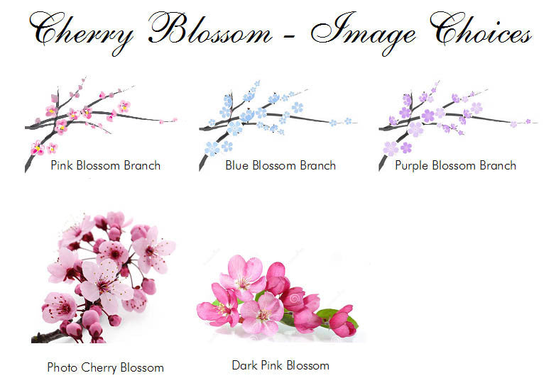 cherry blossom announcements invitations pavia party favors