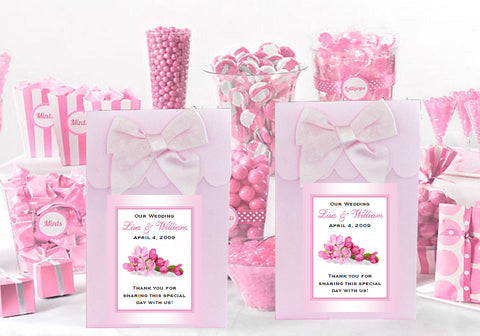 Cherry Blossom Wedding Bridal Pink Candy Shoppe Boxes