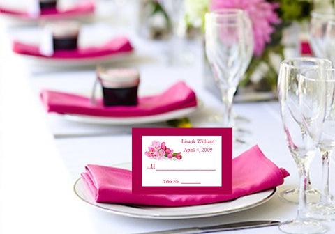 Cherry Blossom Wedding Bridal Place Cards Placecards