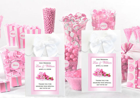 Cherry Blossom Wedding Bridal White Candy Shoppe Boxes