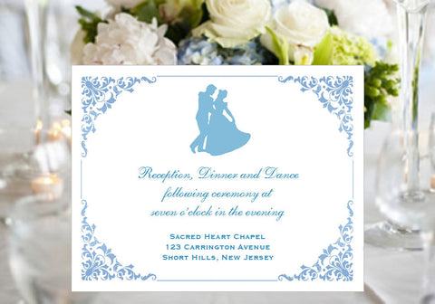 Cinderella Happily Ever After Once Upon a Time Reception Cards