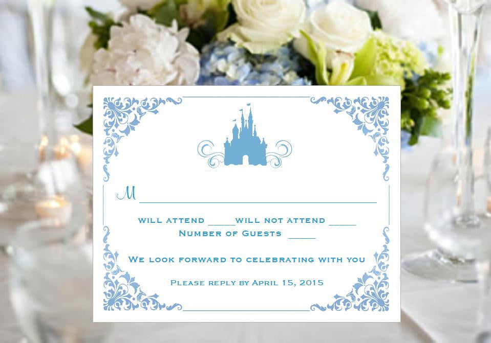 Cinderella Happily Ever After Once Upon a Time Response Cards