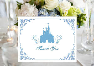 Cinderella Party Wedding Slipper Thank You Cards Notes