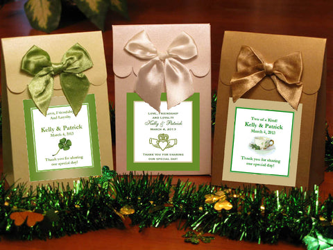 Claddagh Irish Wedding Candy Shoppe Favor Boxes