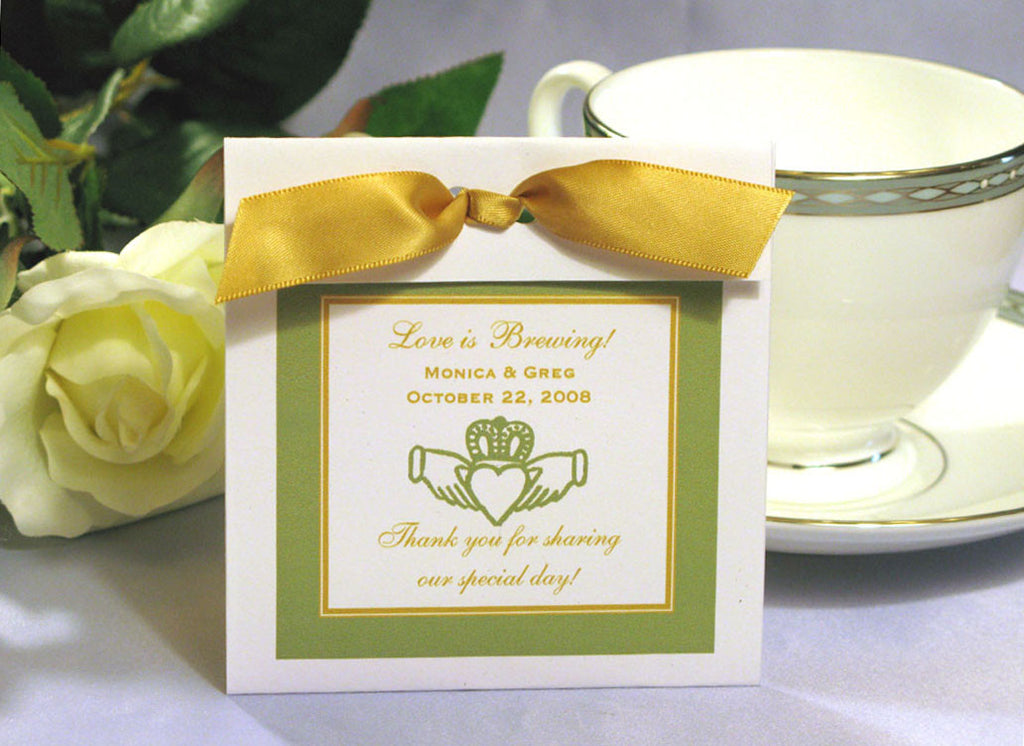 Claddagh Irish Wedding Tea Bag Favor – Pavia Party Favors