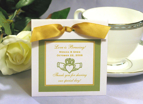 Claddagh Irish Wedding Tea Bag Favor