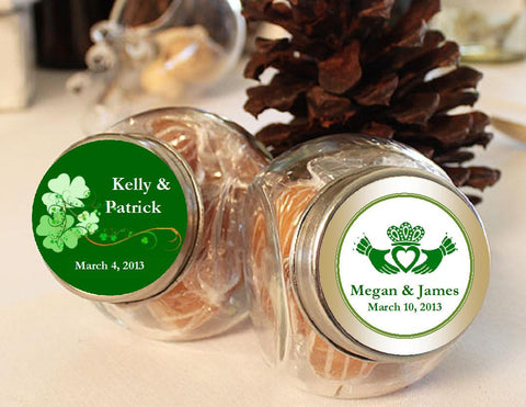Claddagh Irish Wedding Mini Glass Jar Favors