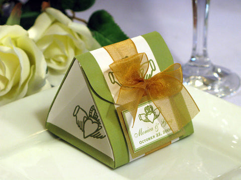 Claddagh Irish Wedding Origami Favor Boxes