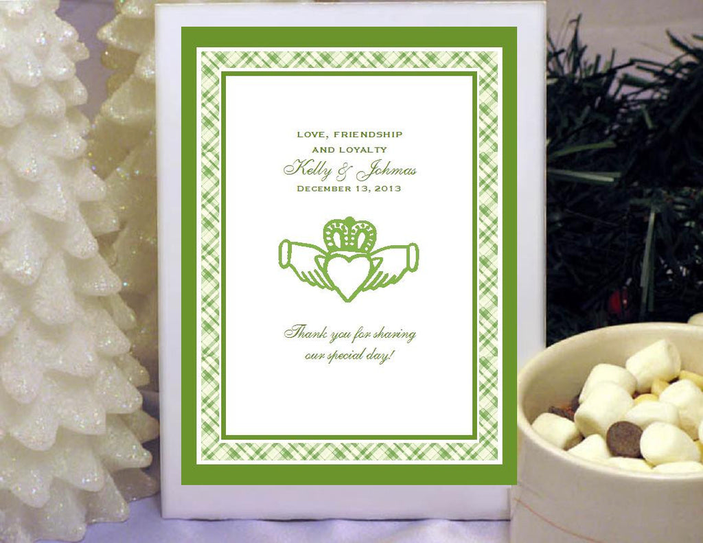 Claddagh Irish Wedding Hot Chocolate Cocoa Favors – Pavia Party Favors