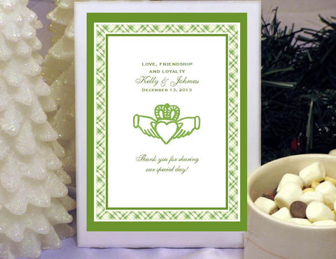 Claddagh Irish Wedding Hot Chocolate Cocoa Favors