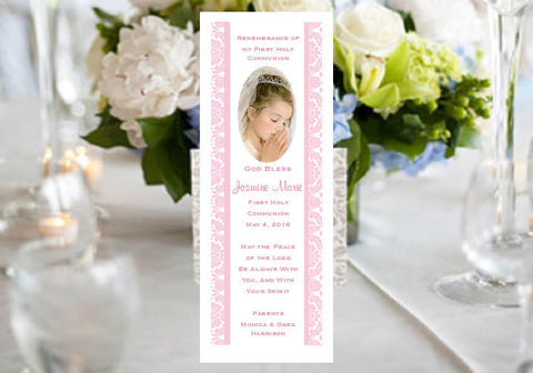 Communion Confirmation Red Dove Bookmarks Favors