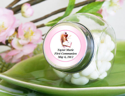 Communion Confirmation Mini Glass Candy Jars Favors