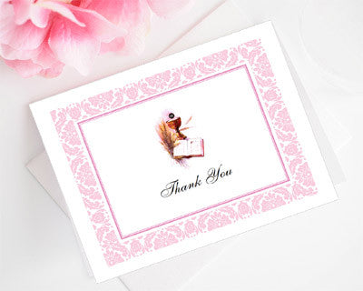 Communion Confirmation Red Dove Thank You Cards Notes