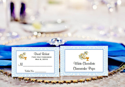 Communion Confirmation Red Dove Buffet Place Cards
