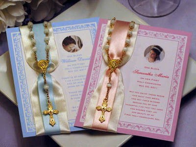 Communion Confirmation Seed Packet and Rosary Favors