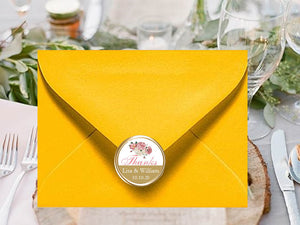 Country Fall Rustic Wedding Envelope Seals Stickers Labels