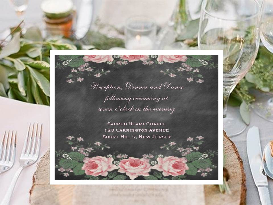 Country Fall Rustic Wedding Reception Cards Pavia Party Favors