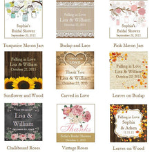 Country Fall Rustic Wedding Advice or Wish Cards