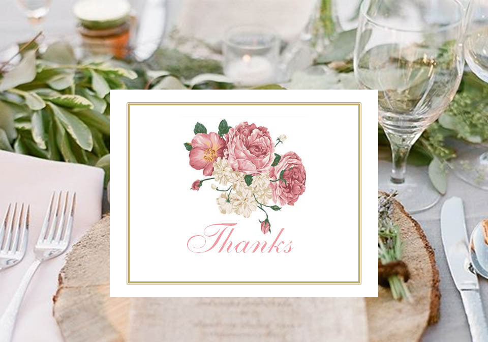 Country Fall Rustic Wedding Thank You Cards Notes Pavia Party Favors