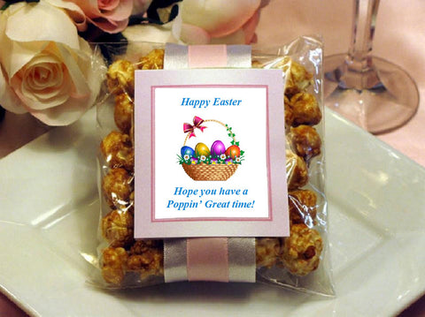 Easter Egg Bunny Basket Caramel Corn Favors