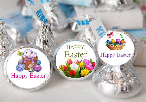 Easter Party Chocolate Candy Kisses Labels Stickers