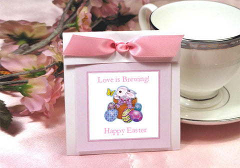 Easter Egg Bunny Basket Tea Bag Favors