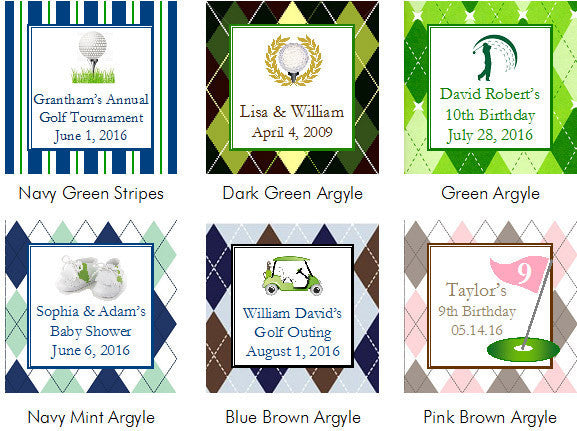 Golf Sports Wedding Party Half Border Table Numbers Cards Pavia